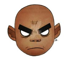 Gorillaz: Russel Hobbs by WillardStilles on DeviantArt Russel Gorillaz, Old Cartoon Shows, Gorillaz Fan Art, Neutral Milk Hotel, Russel Hobbs, Electro Swing, Damon Albarn, Daft Punk, Ship Art