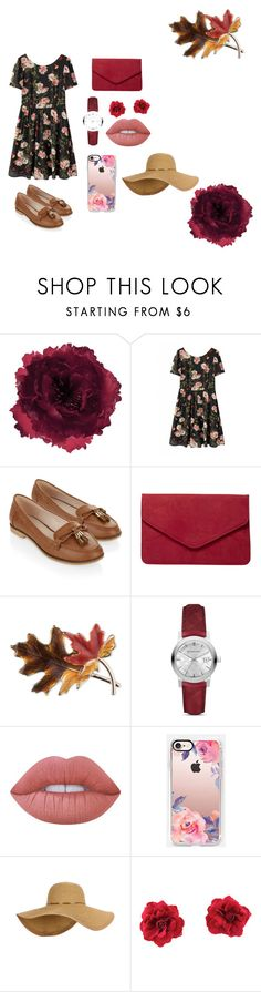 """""""Garden Party"""" by ekaindriaa on Polyvore featuring Accessorize, Dorothy Perkins, Anne Klein, Burberry, Lime Crime and Casetify"""