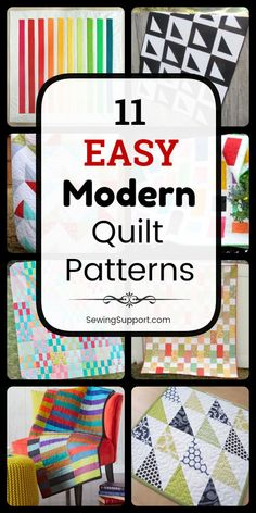 Easy Quilt Patterns for Modern Quilts. Eleven free and easy modern quilt designs easy enough for a beginner to sew. Easy Quilt Patterns for Modern Quilts. Eleven free and easy modern quilt designs easy enough for a beginner to sew. Beginner Quilt Patterns, Star Quilt Patterns, Modern Quilt Patterns, Quilting For Beginners, Quilt Tutorials, Beginner Quilting, Longarm Quilting, Modern Quilting Designs, Machine Quilting Designs