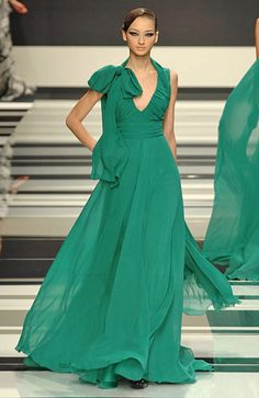 Elie Saab Fall 2008 RTW  What a lovely shade of minty green.