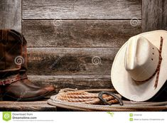 American West Rodeo Cowboy Hat On Lasso With Boots - Download From Over 54 Million High Quality Stock Photos, Images, Vectors. Sign up for FREE today. Image: 27040135