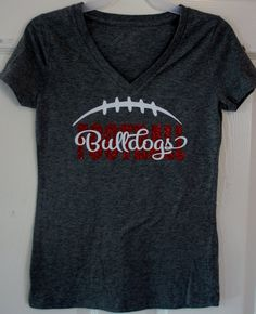 Custom Football T-shirt Long sleeves Sweatshirt by GlitterMomz