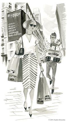 ayako onozuka #illustration #Interior #Fashion #Watercolor #Landscape #newyork #イラストレーション