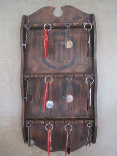 Room key holder from a spoon holder rack on Halloween Forum