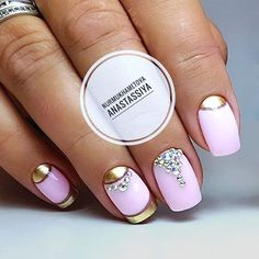Incredible Half Moon Mani With Blinking Rhinestones #halfmoonnails #frenchnails #rhinestonesnails ★ Classy luxury nails ideas for the real princess who values fashion above all! ★ See more: https://glaminati.com/luxury-nails-design-ideas/ #glaminati #lifestyle #nails #luxurynails #nailstyle #nailart #naildesigns