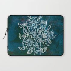 Blue flowers Laptop Sleeve by seelas Laptop Cases, Rich Colors, Blue Flowers, Handicraft, Laptop Sleeves, About Me Blog, Display, Zipper, Patterns