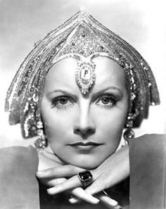 Greta Garbo, perfect Art Deco model,,, I think the head piece would give you a headache! Still so sophisticated.....