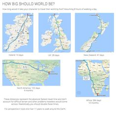 Distance walking how big should your world be Worldbuilding