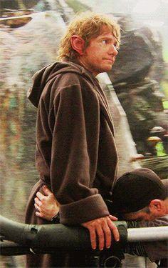 The Hobbit behind the scenes BTS Martin Freeman  #funny @bazax12