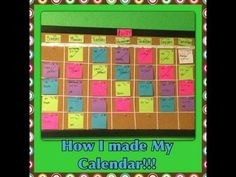 How I Make My Monthly Calendar! - http://art-press.co/how-i-make-my-monthly-calendar/