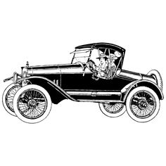 Vintage Automobile ~ LAMINAS EN BLANCO Y NEGRO (pág. 72) | Aprender manualidades es facilisimo.com