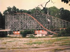 Abandoned Roller Coaster, Idora Park, Youngstown, Ohio.