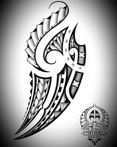 Posted by (rs tribal design) Polynesian inspired design. Polynesian Tattoo Designs, Polynesian Tribal, Maori Tattoo Designs, Feather Tattoos, Skull Tattoos, Tribal Tattoos, Body Tattoos, Maori Patterns, Hibiscus Tattoo