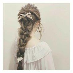 ‧₊° pin    vynaaa °₊‧ Kawaii Hairstyles, Pretty Hairstyles, Braided Hairstyles, Hair Arrange, Princess Hairstyles, Aesthetic Hair, Grunge Hair, Hair Day, Hair Designs
