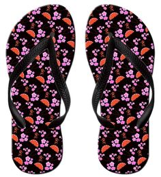 Spring Cherry Blossom Festival Custom Fashion Style Perfectly Neutral Slip Design Beach Flip-Flops -- You can find out more details at the link of the image.