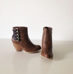 Blair Brown Bootie – Brittney's Closet. Literally OBSESSED with these boots. And they come with a replacement heel. These boots will last forever! Free Shipping on all items.
