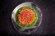 Watermelon Basil Granita With Poblano Granita