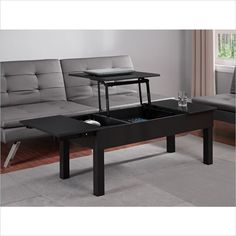 Altra Furniture Parsons Lift Top Coffee Table In Black   5098096   Lowest  Price Online On