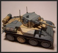 WWII Light Tank Mk VII Tetrarch Free Paper Model Download - http://www.papercraftsquare.com/wwii-light-tank-mk-vii-tetrarch-free-paper-model-download-2.html