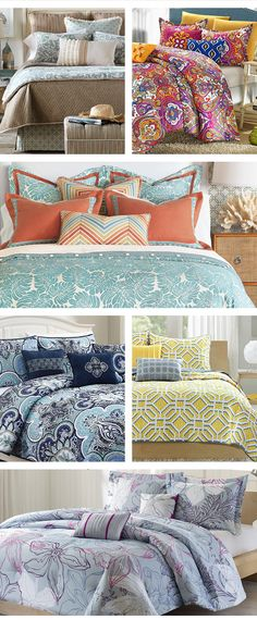 all different patterns, mixing in coordinates - this was found on Wayfair Dream Bedroom, Home Bedroom, Bedroom Furniture, Bedroom Decor, Bedroom Ideas, Master Bedroom, My New Room, My Room, Beautiful Bedrooms