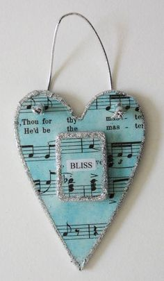 Bliss Heart  Home Decor by KoppelStudio on Etsy