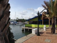 Just chillin' - the Friends and Family test run at the soon to be reopened, highly revamped Marker 4 restaurant and marina, Venice, FLA
