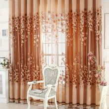 Free shipping Luxurious Upscale Jacquard Yarn Curtains Tulle Voile Door Window Curtains Living Room Bedroom Decor E5M1(China (Mainland))