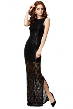 Black Sexy Womens Sleeveless Cut Out Backless Maxi Evening Dress