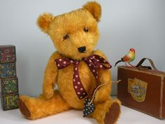 Oscar a Chiltern old bear dating to the 1950's