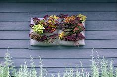 DIY felt wall planter