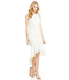 48507dc0ccb Belle Badgley Mischka TieBack HiLow Madden Dress  Dillards Wedding Dress  Shopping