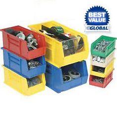 Bins, Totes & Containers   Bins-Stack & Hang   Premium Stacking Bins - GlobalIndustrial.com