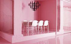 A Chic Pink Office by Normann Copenhagen – Crioll Designshop Pink Office, The Office, Chandelier, Shop Interior Design, Lounges, Elegant, Decoration, Copenhagen, Design Projects