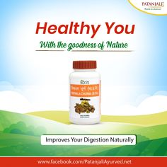 Healthy You with the power of Nature!! Patanjali Triphala Churna is very effective to improve digestion naturally. It helps to fight against fatigue and lethargy and boost the body energy. #PatanjaliProducts #AyurvedaLifestyle #TriphalaChurna - Patanjali Products  IMAGES, GIF, ANIMATED GIF, WALLPAPER, STICKER FOR WHATSAPP & FACEBOOK
