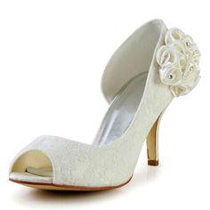 "Elegant Women's Peep Toe Wedding Shoes With Lace and Flowers Design Color: WHITE, BEIGE, BLACK Size: 34, 35, 36, 37, 38, 39, 40, 41, 42 Category: Wedding & Events > Wedding Shoes   Gender: Women  Pumps Type: Basic  Toe Style: Open Toe  Toe Shape: Peep Toe  Shoe Width: Medium(B/M)  Heel Type: Stiletto Heel  Heel Height Range: High(3-3.99"")  Embellishment: Flowers  Occasion: Wedding  Upper Material: Lace    #laceweddingshoescheap #laceshoes #weddingshoes #cheapshoes #bridgat.com"