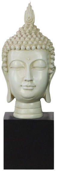 Benzara Buddha Head With Pointed Ushnisha on Base