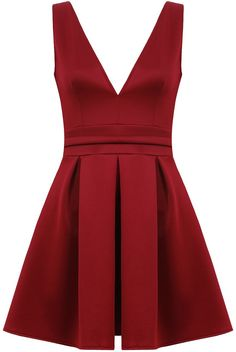 Katie Mulberry Pleated Front Skater Dress £20 Shop here> www.retailtherapyfashion.com