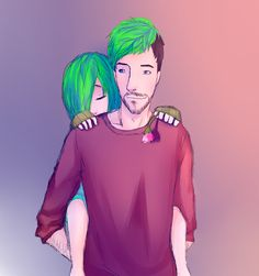This is cute and everything but I think we all know if Tim makes Sam cry Jack is going to kill Tiny Boy Tim. Jacksepticeye Fan Art, Markiplier, Pewdiepie, Septiplier Comic, Septiplier Fanart, Mark And Ethan, Jack And Mark, Septiceye Sam, Bad Father