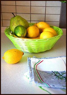 Ręczniczki kuchenne z włoskimi przepisami,  limonki, cytryny i możemy pichcić :)