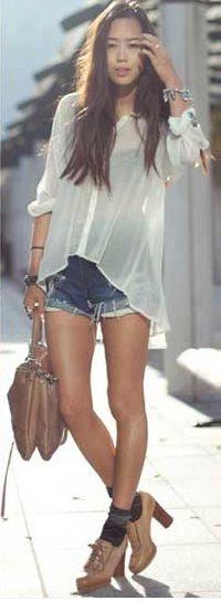 Camisa Transparente com Short