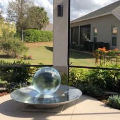 Garden Art, Garden Design, Glass Doors, Luxury Living, How Beautiful, Water Features, Walks, Landscape Design, Fountain