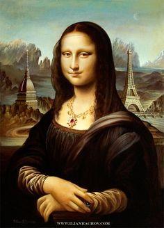 Mona Lisa - art by Ilian Rachov, via Tú Lisa, yo Conda