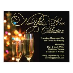 New Year's Eve Party Invitations New Years Eve Invitations, Zazzle Invitations, Party Invitations, Invitation Maker, Invitation Wording, Invitation Ideas, Invite, Printable Invitation Templates, Printable Party