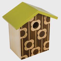 Orla Kiely Flower Bird House Brown & Green