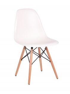 Chaise design bois & PVC coloris blanc (lot de 2) Luberon