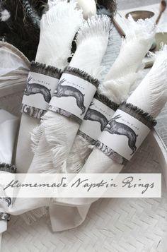 spring hare napkin rings DIY