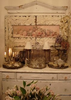 shabby chic . . .Tin Framed Repasy