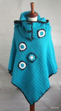 Crochet Poncho, Poncho Sweater, Sweaters, Fashion, Ponchos, Bebe, Moda, Fashion Styles, Pullover