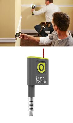 Transform your phone into a smart laser pointer and transfer level with the Ryobi Phone Works mobile app and Laser Pointer device. The Phone Works device attaches to your smartphone's headphone jack and projects a dot based on your phone's position.