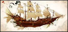 Justin Currie pirate Ship